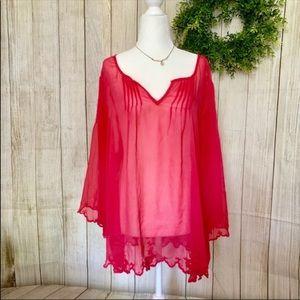 Jessica Simpson. Flowy pink tunic. Size 2X